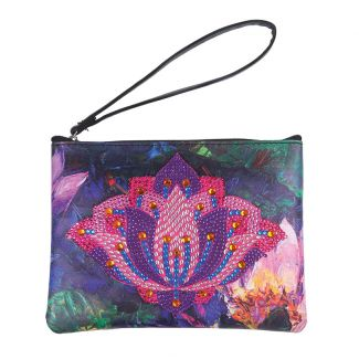 Crystal Art Pouch - Lovely Lotus