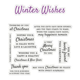 """CC - Sentiment & Verses Clear Stamps - Winter Wishes x 10 stamps (Largest stamp size 4.7"""" x 1"""")"""