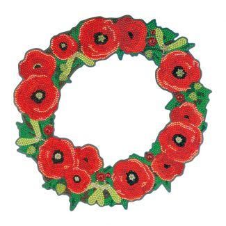 Crystal Art Wreath - Poppy (30cm)
