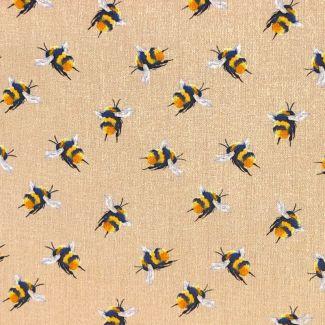 Bumblebees - Beige - 1/2 metre