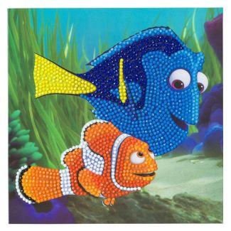 Crystal Art Card Kit - Dory and Marlin