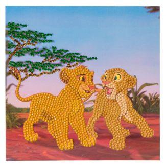 Crystal Art Card Kit - Simba and Nala