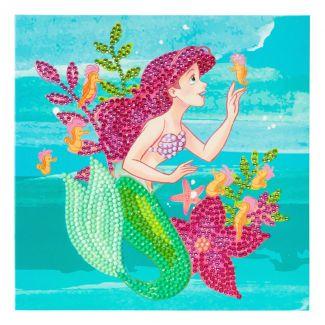 Crystal Art Card Kit - Ariel