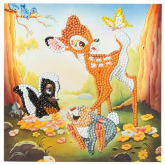 Crystal Art Card Kit - Bambi and Friends