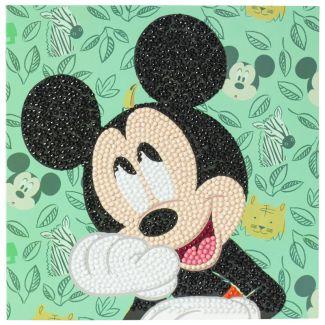 Crystal Art Card Kit - Happy Mickey