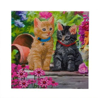 Crystal Card Kit - Cat Friends