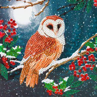 Crystal Card Kit - Barn Owl