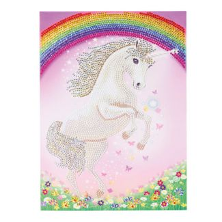 Giant Crystal Art Card Kit - Unicorn Rainbow