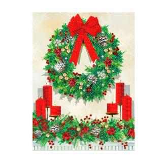 Giant Crystal Art Card Kit - Festive Wreath