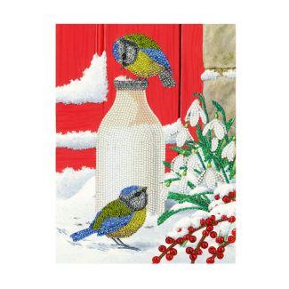 Giant Crystal Art Card Kit - Birds Milkshake