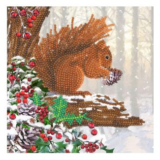 Crystal Card Kit - Squirrel
