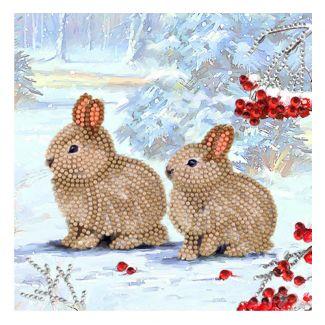 Crystal Card Kit - Winter Bunnies