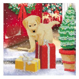 Crystal Card Kit - Labrador Pup