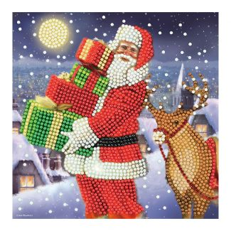 Crystal Art Card - Santa's Gifts (18cm x 18cm)