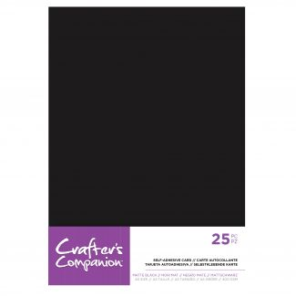 CC - A5 Matte Black Self-adhesive Card