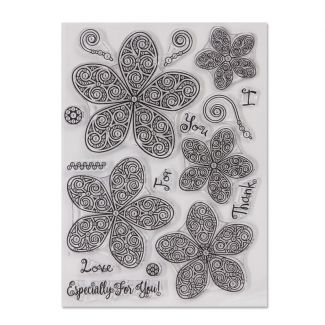 Crystal Art A5 Stamp - Curly Flora