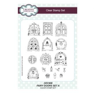 Fairy Doors set A - A5 Clear Stamp Set