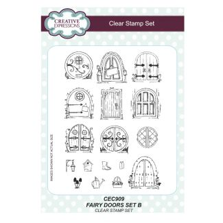 Fairy Doors Set B - A5 Clear Stamp Set