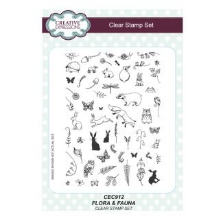 Flora & Fauna A5 Clear Stamp Set