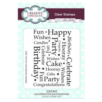 Celebration Background A6 Clear Stamp Set