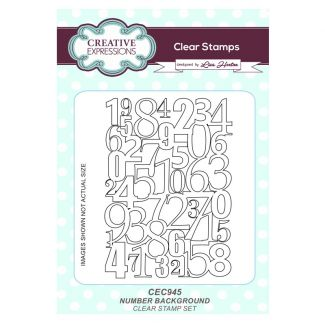 Number Background A6 Clear Stamp Set