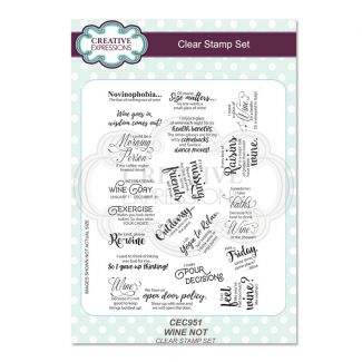 A5 Clear Stamp Set Wine Not