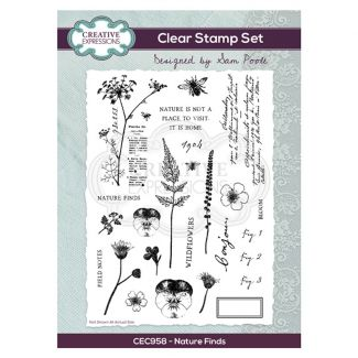 Creative Expressions Sam Poole - Nature Finds A5 Clear Stamp Set