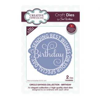 Circle Sayings Birthday Craft Die