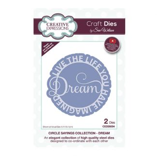 Circle Sayings Dream Craft Die