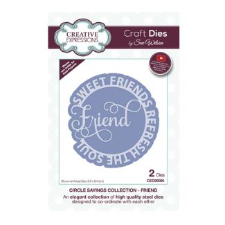 Circle Sayings Friend Craft Die