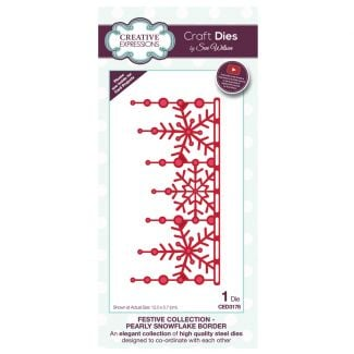 Festive Collection Pearly Snowflake Border Craft Die