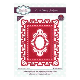 Festive Collection Ruffled Edge Christmas Frame Craft Die