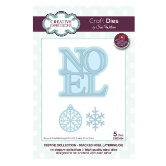Festive Collection Stacked Noel Layering Craft Die