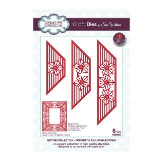 Creative Expressions Sue Wilson Poinsettia Adjustable Frame