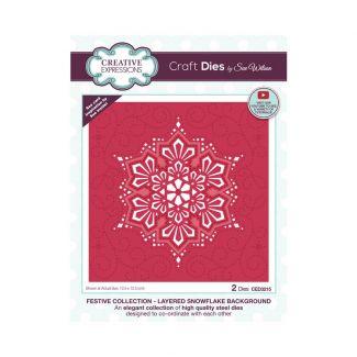 Creative Expressions Sue Wilson Layered Snowflake Background Craft Die