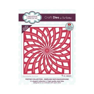 Creative Expressions Sue Wilson Swirling Rays Background Craft Die