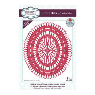 Creative Expressions Sue Wilson Ornate Oval Frame Craft Die