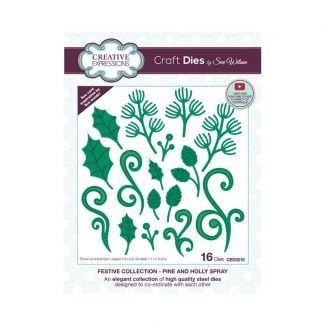 Creative Expressions Sue Wilson Pine and Holly Spray Craft Die