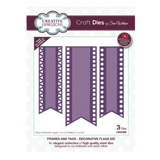 Frames & Tags Decorative Flags Craft Die