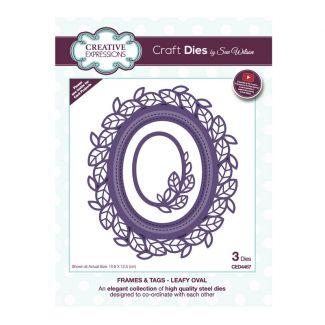 Sue Wilson Frames & Tags - Leafy Oval Craft Die