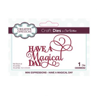 Mini Expressions Have a Magical Day Craft Die