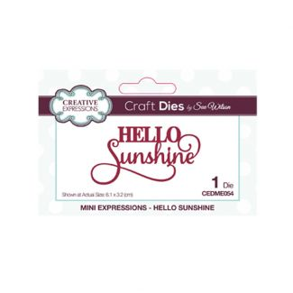 Mini Expressions Hello Sunshine Craft Die