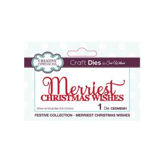 Creative Expressions Sue Wilson Merriest Christmas Wishes