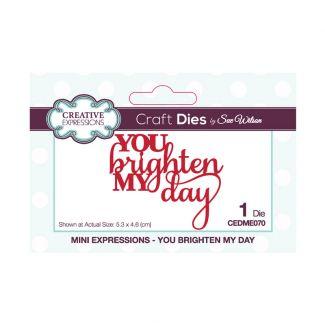 Sue Wilson Mini Expressions - You Brighten My Day Craft Die