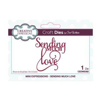 Sue Wilson Mini Expressions - Sending Much Love Craft Die