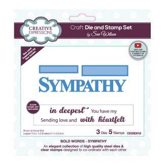 Sue Wilson Bold Words - Sympathy Craft Die & Stamp Set