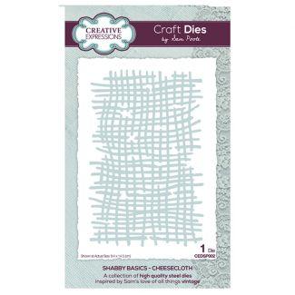 Creative Expressions Sam Poole - Shabby Basics Cheesecloth Craft Die x 1 die (size 9.4cm x 14.5cm)