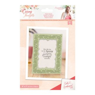 Caring Thoughts - Cut and Emboss Folder - Filigree Border