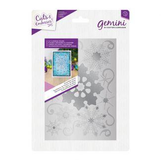 Cut and Emboss Folder - Snowflake Swirls