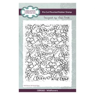 Creative Expressions Sam Poole - Wildflowers A6 Pre Cut Rubber Stamp